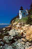 The Bass Harbor Head Lighthouse on Mount Desert Island in Maine