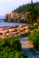 The Ocean Trail begins near Sand Beach, goes past Thunder Hole, and arrives at Otter Cliff as seen here.
