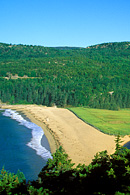 The popular Great Head Hiking Trail provides a spectacular view of Sand Beach and The Beehive.